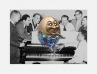 "Eggstein Singing the Blues11""X14"" Mat - $35 8""X10"" Mat - $25"